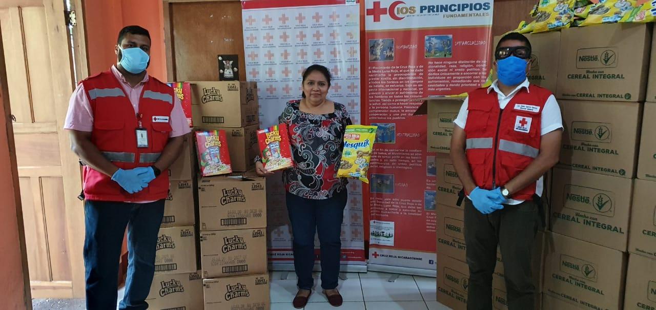 Entrega de donativo en el asilo de Ancianos Dr. Agustín Sánchez Vigil del municipio de Jinotepe.
