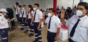 Juramentación de nuevos miembros en la Décima promoción de Socorristas de CRN Filial Nagarote