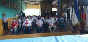 Acto de inauguración del Curso de Seguridad Escolar (CUSE), en el Centro Educativo ELIL en Juigalpa