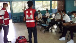 Formación de Brigadas Escolares en el Instituto Nacional Miguel Ramírez Goyena del Distrito II de Managua