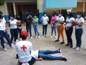 Formación de Brigadas Escolares en el Colegio Santa Teresita del Niño Jesús del Municipio de Masaya