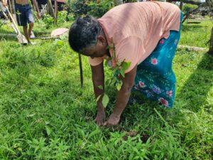 Habitantes de la comunidad de Lapan - adquieren el compromiso de cuidar las plantas donadas por CRN